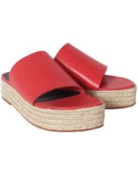 Tibi Red Masha Sandals - Lyst