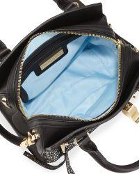 Cynthia Rowley Dylan Mini Stingray-print Satchel Bag - Black