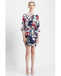 Mary Katrantzou Print Scuba Knit Shift Dress - Lyst