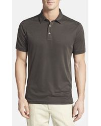 John W. Nordstrom® Regular-Fit Pima Cotton-Blend Polo Shirt - Lyst