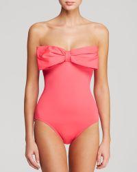Kate Spade Georgica Beach Bandeau Maillot One Piece Swimsuit - Lyst