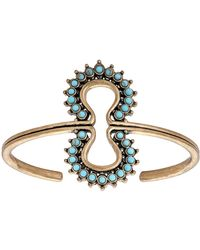 Lucky Brand Heritage Holiday Turquoise Blossom Bracelet - Metallic