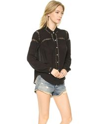 Free People Everyday Every Girl Top Black - Lyst