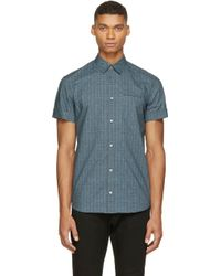 Costume National Black And Blue Patterned Shirt - Lyst