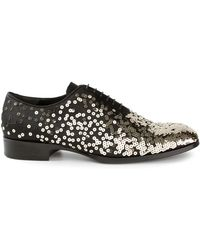 Alexander McQueen Sequinned Shoes silver - Lyst