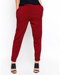 Asos Peg Trousers In Texture - Lyst