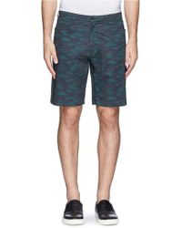 Theory Kores Camouflage Shorts - Lyst