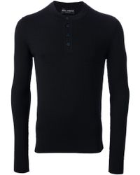 Dolce & Gabbana Ribbed Henley - Lyst