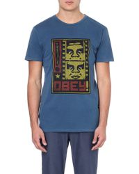 Obey Filmstrip Cotton T-shirt - Lyst