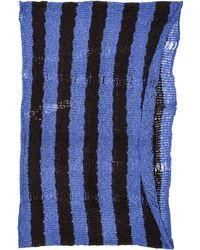 Paula Bianco Striped Wrap Scarf  Blackroyal - Lyst