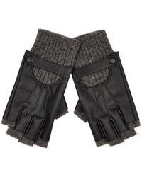River Island Black Fingerless Gloves