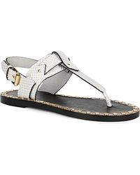 Isabel Marant Jewel Textured Leather Sandals - For Women white - Lyst