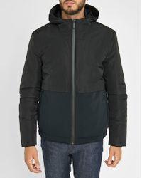 Calvin Klein | Black Two-tone Zip Waterproof Down Jacket | Lyst