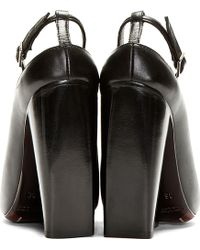 CoSTUME NATIONAL - Black Leather Point Toe Wedge Heel - Lyst