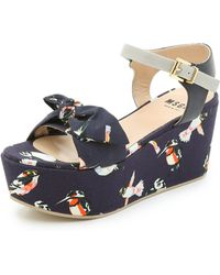 MSGM Torchon Wedges - Blue - Lyst