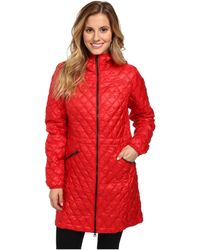 The North Face Red Thermoball Parka - Lyst
