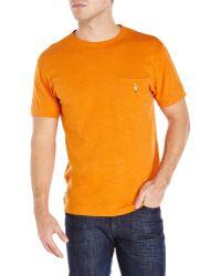 Garbstore Orange Embroidered Soldier Cheval Tee - Lyst