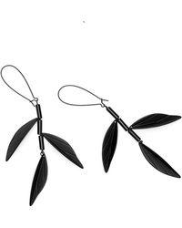 Scenery Label - Black Bamboo Earrings - Lyst