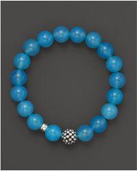 Lagos - Caviar 10mm Ball Beaded Blue Chalcedony Bracelet - Lyst