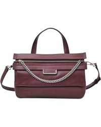 Marc By Marc Jacobs Top Of The Chain Satchel - Purple