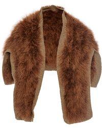 Sonia Rykiel Marabout Fur Half-Sweater - Lyst