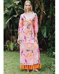 RHODE - Lena Dress Pink Multi - Lyst