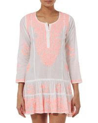 Juliet Dunn - Coral Embroidered Dress - Lyst