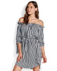 6555bdd4027a0 Lyst - Seafolly Broderie Cold Shoulder Dress in Black
