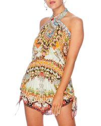 Camilla - Slice Of Paradise Tie Playsuit - Lyst