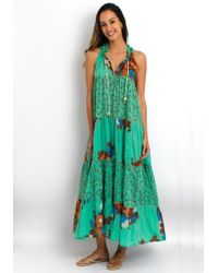 Yvonne S - Sleeveless Hippy Dress Green - Lyst
