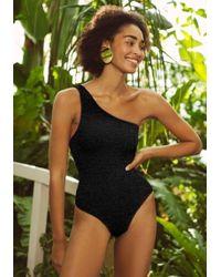 4ddc6a597fd70 Hunza G Nancy Swimsuit Black in Black - Lyst