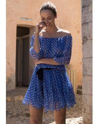 Poupette - Joe Mini Dress Blue Vemizia - Lyst