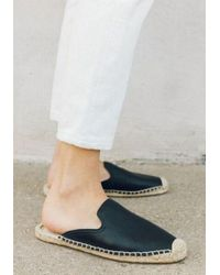 Soludos - Tumbled Leather Espadrilles - Lyst