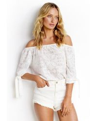 Seafolly - White High Waisted Shorts - Lyst