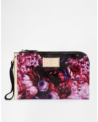 Lipsy - Floral Clutch Bag - Lyst