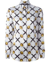 Versus  Iconic-Print Relaxed-Fit T-Shirt multicolor - Lyst