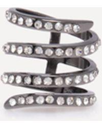 Bebe - Crystal Wrap Around Ring - Lyst