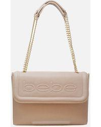 Bebe Lila Flap Shoulder Bag - Natural