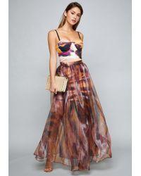 Bebe - Organza Maxi Skirt Dress - Lyst