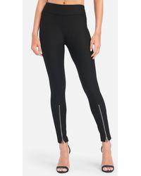 Bebe High Rise Zipper Front Legging - Black