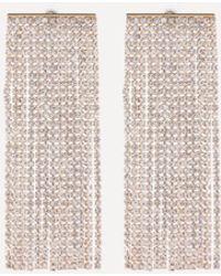 Bebe - Crystal Wide Earrings - Lyst