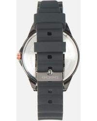 Bebe Black & Crystal Dial Silicone Strap Watch