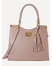 Bebe Natalie Croco Shopper - Pink