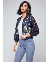 Bebe - Embroidered Lace Jacket - Lyst
