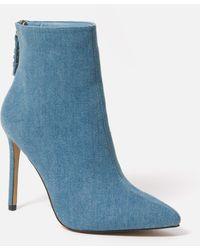 Bebe Dasha Stiletto Booties - Blue