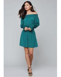 Bebe - Smocked Slinky Jersey Dress - Lyst