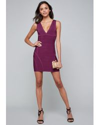 Bebe - Double V Bandage Dress - Lyst