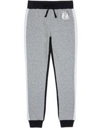 Bebe Girls Foil Logo Fleece Trousers - Gray