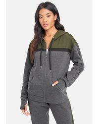 Bebe Sport Colour Stripe Jacket - Grey