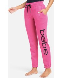 Bebe Logo French Terry Sweatpant - Pink